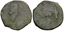 Ancient Coins - Augustus (27 BC-AD 14). Spain. Emerita Æ AS / Priest Ploughing