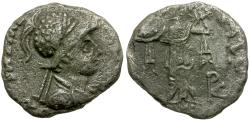 Ancient Coins - Kings of Baktria. Menander AR Imitative Drachm / Athena