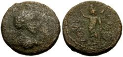Ancient Coins - Commodus, Judaea, Aelia Capitolina (Jerusalem) Æ23 / Lindgren Plate Coin