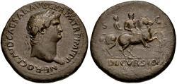 Ancient Coins - Nero (AD 54-68). Æ Sestertius