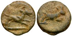 Ancient Coins - Roman Pb Tessera / Hound & Hare