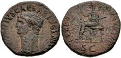 Ancient Coins - Claudius (AD 41-54). Iberian imitative Æ Dupondius