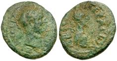 Ancient Coins - Hadrian. Arabia. Gerasa Æ15 / Bust of Arabia