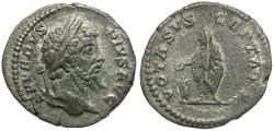 Ancient Coins - Septimius Severus (AD 193-211) AR Denarius / Septimius Sacrificing