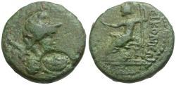 Ancient Coins - Lycaonia. Iconium Æ18 / Perseus