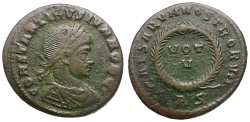 Ancient Coins - Constantine II as Caesar Æ3 / Rome mint