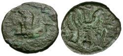 Ancient Coins - Arabia Felix. Himyarites Æ11 / Bucranium