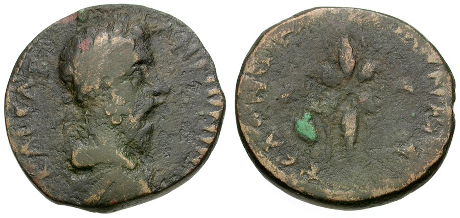 Ancient Coins - Marcus Aurelius. Koinon of Macedon Æ23 / Thunderbolt
