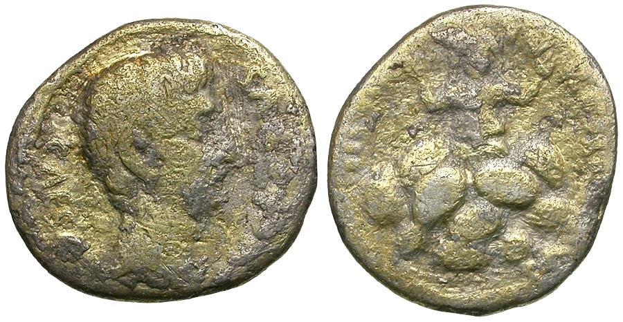 Ancient Coins - Augustus (27 BC-AD 14). P. Petronius Turpilianus, moneyer AR Denarius / Tarpeia