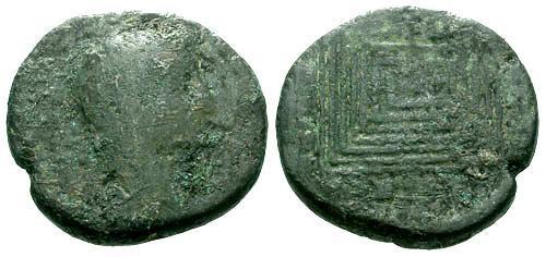 Ancient Coins - G/G Augustus Crete Knossus AE20 / Labyrinth