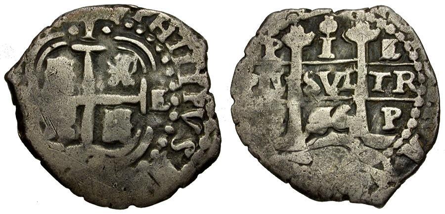 Ancient Coins - Bolivia. Philip IV AR 1 Real Cob