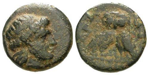 Ancient Coins - VF/VF Thrace Agathopoli AE12 / Double bodied Owl RRR