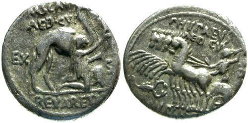 Ancient Coins - 58 BC / aVF/aVF Aemilia 8 Roman Republic Denarius / Legend error