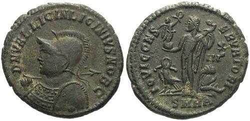 Ancient Coins - VF/EF Licinius II as Caesar AE / Jupiter R5