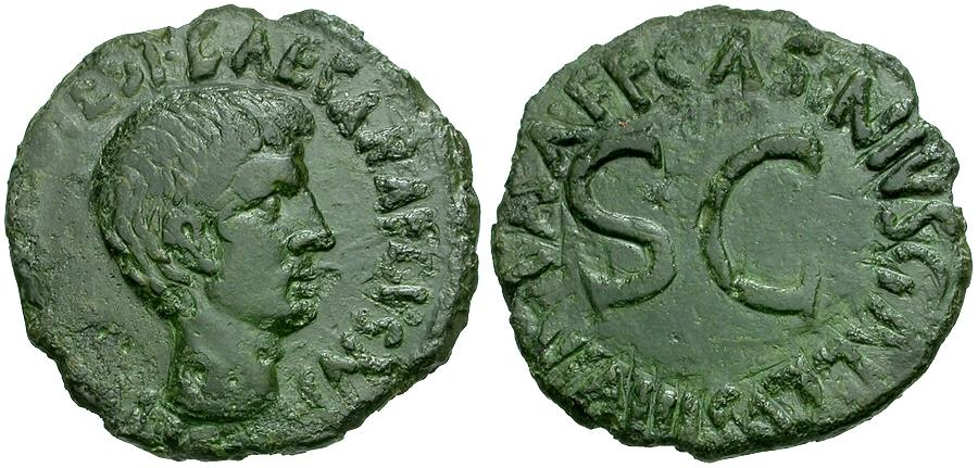 Ancient Coins - Augustus. C. Asinius Gallus moneyer Æ AS