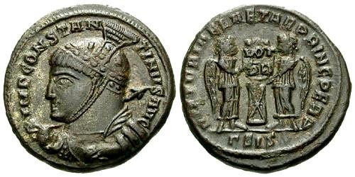 Ancient Coins - VF/VF Constantine I the Great Follis / Victories