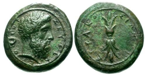 Ancient Coins - EF/VF Sicily Syracuse Time of Timoleon AE Hemilitron