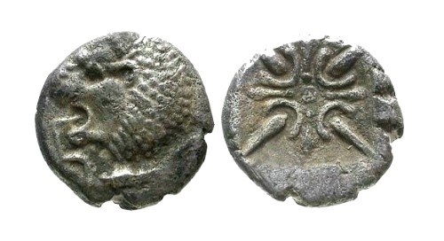 Ancient Coins - VF/VF Carian Satraps / Hekatomnos 1/12 Stater RRR