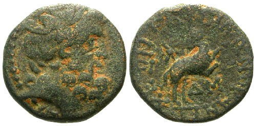 Ancient Coins - aVF/aVF AE20 Antioch / Star of Bethlehem Depicted