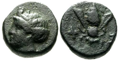 Ancient Coins - VF/VF Ionia Ephesos AE10 / Bee