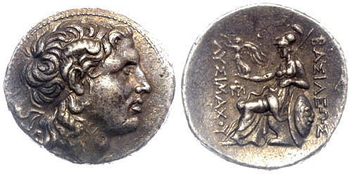 Ancient Coins - EF/gVF Lysimachos AR Tetradrachm Amphipolis mint