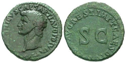 Ancient Coins - VF/VF Germanicus Restitution AS struck by Titus / S C