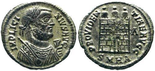 Ancient Coins - EF/EF Licinius AE / Silvered Campgate