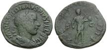 Gordian III Æ Sestertius / Emperor in Military Dress