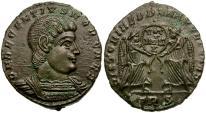 Ancient Coins - Decentius Æ3 / Two Victories