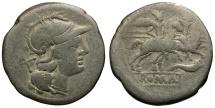 Ancient Coins - 179-170 BC - Roman Republic. Anonymous AR Denarius / Cornucopia