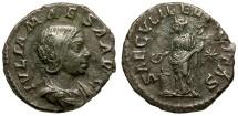 Ancient Coins - Julia Maesa AR Denarius / Felicitas Sacrificing