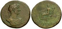 Hadrian Æ Sestertius / Fortuna Seated