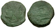 Ancient Coins - 169-158 BC - Roman Republic. Anonymous Æ AS / Butterfly