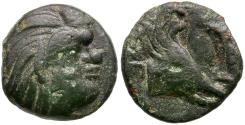 Ancient Coins - Cimmerian Bosporus. Pantikapaion Æ14 / Pegasus