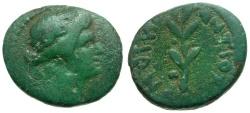 Ancient Coins - Time of Nero. Antioch. Pseudo-autonomous Æ18 / Laurel Branch