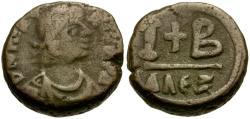 Ancient Coins - *Sear 247* Byzantine Empire. Justinian I Æ 12 Nummi