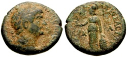 Ancient Coins - Hadrian, Cappadocia Tyana Æ19 / Athena