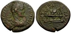 Ancient Coins - VF/VF Caracalla as Caesar, Cappadocia Caesarea Æ28 / Jacob Hirsch