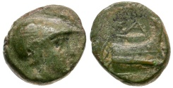 Ancient Coins - Kings of Macedon. Demetrios I Poliorketes Æ10 / Prow