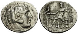Ancient Coins - Phoenicia.  Arados. In the Name and Type of Alexander III The Great AR Tetradrachm / Palm Tree