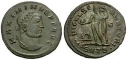 Ancient Coins - Maximinus II Æ Follis / Jupiter