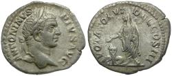 Ancient Coins - Caracalla (AD 198-217) AR Denarius / Caracalla Sacrificing