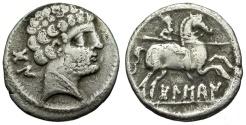 Ancient Coins - Spain. Osca AR Denarius or Drachm / Horseman