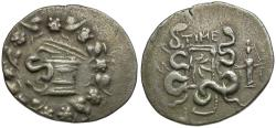 Ancient Coins - Lydia. Tralleis. Cistophoric AR Tetradrachm / Cista Mystica