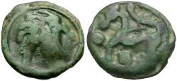 Ancient Coins - Celtic Tribes of Gaul, Senones Potin / Wildman / Horse