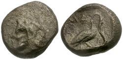 Ancient Coins - Cilicia. Mallos AR Obol / Herakles and Swan