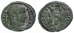 Ancient Coins - gF/F Crispus Caesar Æ3 / Two Victories at Altar