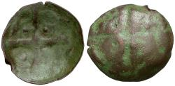 World Coins - Bulgaria. Æ Scyphate / Cross