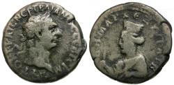 Ancient Coins - Trajan. Caesarea. Cappadocia AR Didrachm / Artemis
