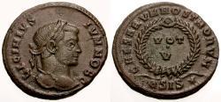 Ancient Coins - VF/VF Licinius II as Caesar Æ3 / Votive